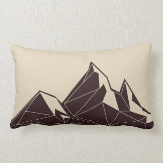 Geometric Woodland Animals | Mountain Throw Pillow
