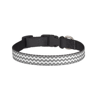 Geometric zigzag pattern 2 pet collar