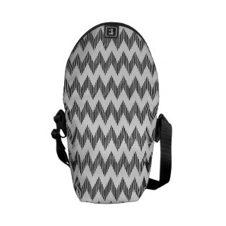 Geometric zigzag pattern commuter bags