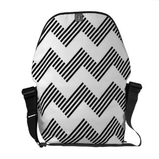 Geometric zigzag pattern courier bags