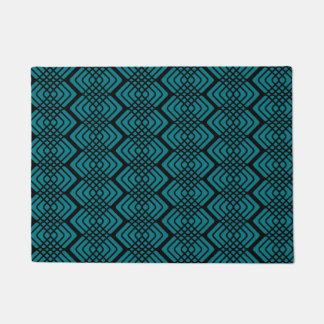 Geometric Zigzag Pattern Door Mat