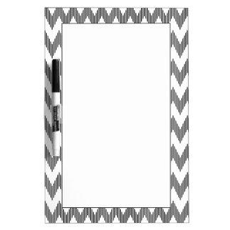 Geometric zigzag pattern dry erase board