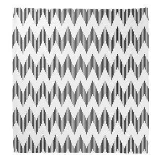 Geometric zigzag pattern head kerchiefs