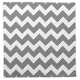 Geometric zigzag pattern napkin