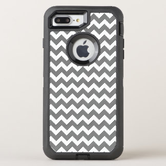 Geometric zigzag pattern OtterBox defender iPhone 8 plus/7 plus case