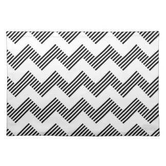 Geometric zigzag pattern placemat