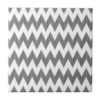 Geometric zigzag pattern small square tile
