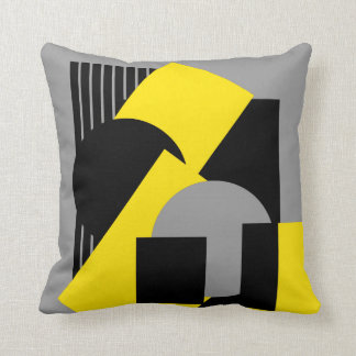 Geometrical abstract art deco mash-up2 cushion