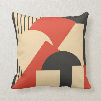 Geometrical abstract art deco mash-up cushion