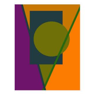 Geometrical abstract design postcard