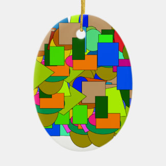 geometrical figures christmas ornament