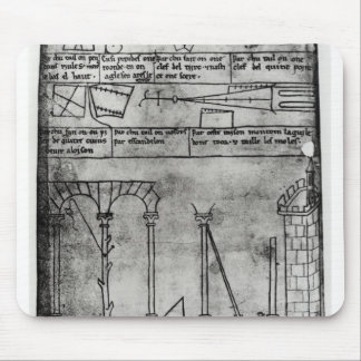 Geometrical figures for construction mouse mat