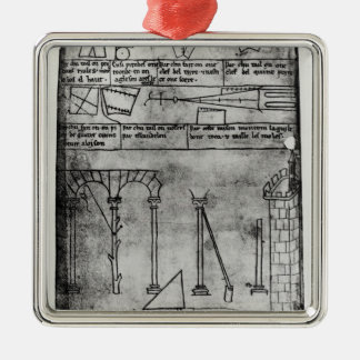 Geometrical figures for construction Silver-Colored square decoration