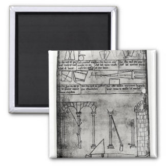 Geometrical figures for construction square magnet