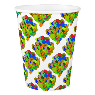 geometrical figures paper cup