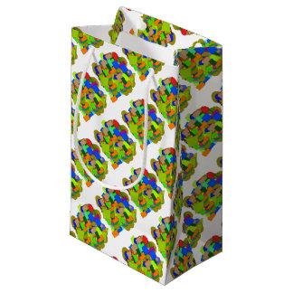 geometrical figures small gift bag