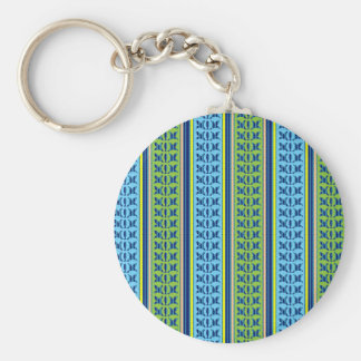 Geometrical Graphical Flower Line Art Pattern GIFT Basic Round Button Key Ring