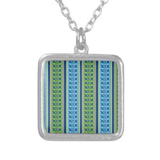 Geometrical Graphical Flower Line Art Pattern GIFT Necklaces