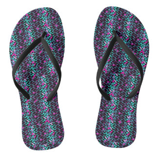 GEOMETRICAL SHAPES SLEEPERS FLIP FLOPS