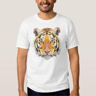 Geometrical tiger illustration tees
