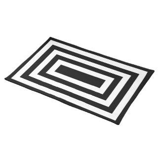 """Geometrics"" Black & White Placemat"