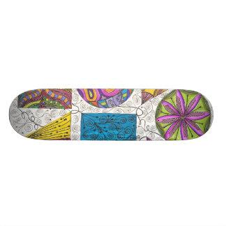 geometrics sk8er girl skate board deck