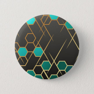 Geometrix Blue 6 Cm Round Badge