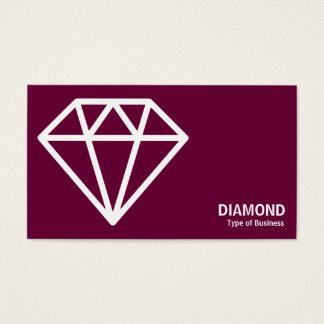 Geometropolis - Diamond - White on Dp Crimson Business Card