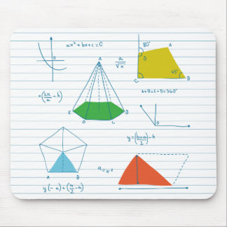 Geometry And Maths Graphs Mousepads