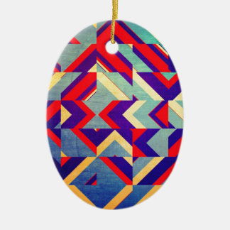 Geometry Ceramic Oval Decoration
