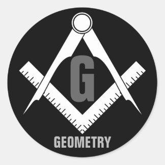Geometry Classic Round Sticker
