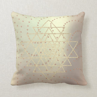 Geometry Crystals Swarovski Rose Gold Triangles Cushion