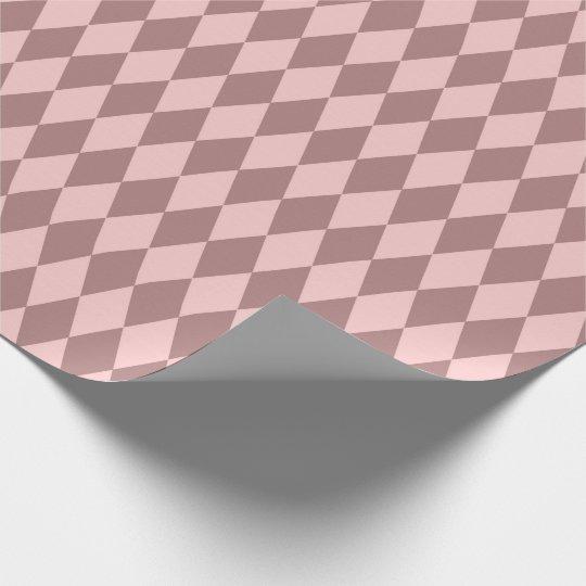 Geometry Diamond Cut Blush Pink Rose Mauve Wrapping