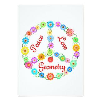 "Geometry is Ideal 5"" X 7"" Invitation Card"