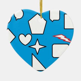 Geometry is my life ceramic heart decoration