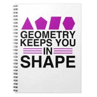 Geometry Keeps You In Shape Math Pun Notebook