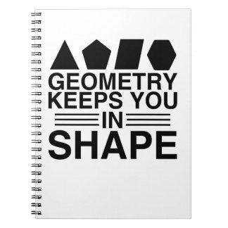 Geometry Keeps You In Shape Math Pun Notebooks