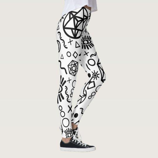 Geometry Line Starseed Symbols Leggings