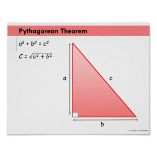 Geometry Math Poster: Pythagorean Theorem Poster