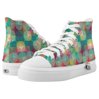 Geometry Pattern Effect High Tops
