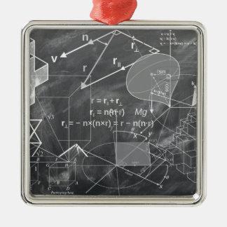 Geometry Silver-Colored Square Decoration