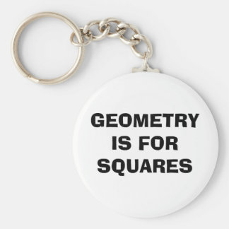 Geometry Squares Basic Round Button Key Ring