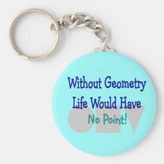 Geometry Teacher Gifts Basic Round Button Key Ring