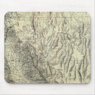 Geomorphic map, California, Nevada Mouse Mat