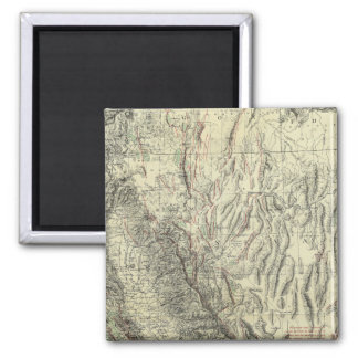 Geomorphic map, California, Nevada Square Magnet
