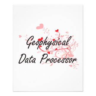 Geophysical Data Processor Artistic Job Design wit 11.5 Cm X 14 Cm Flyer
