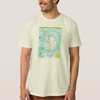 Geopolitical Regional Map of Antarctica T-Shirt
