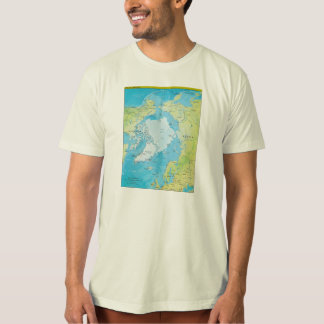 Geopolitical Regional Map of the Arctic T-Shirt