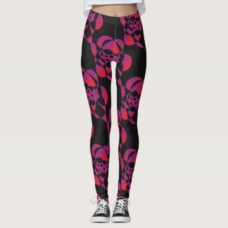 Geopsychedelic graphic designed leggings