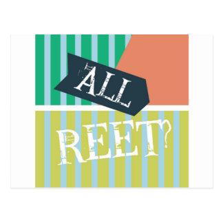 Geordie Card - All Reet? Postcard